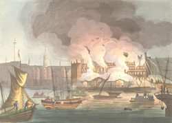 The Fatal Conflagration of the Custom House on the morning of the 12th February 1814